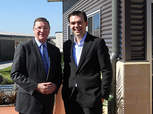 Teach For Australia Associate Chris Weinberg with Former Premier of Victoria Denis Napthine