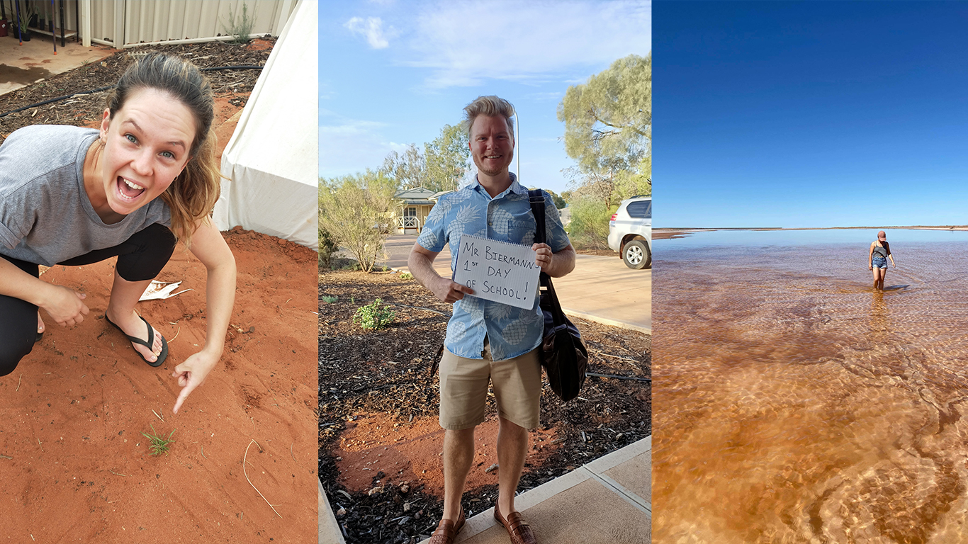 Josh and Candice in Roxby Downs